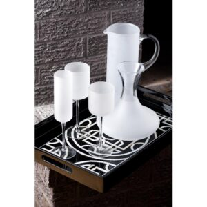 Abigails White Night Frosted Water Glass