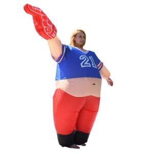 ALEKO 1-Size Fits All Unisex Pot Belly #1 Sports Fan Adult Halloween Costume