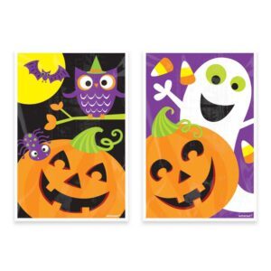 Amscan 6 in. x 4 in. Halloween Plastic Treat Bag Assortment (80-Count, 5- Pack)