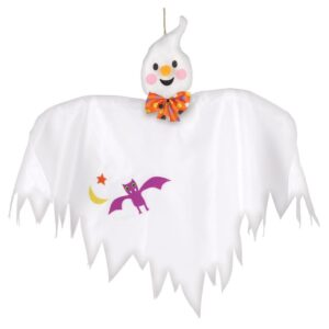 Amscan 24 in. Medium Halloween Hanging Ghost Decoration (4-Pack)