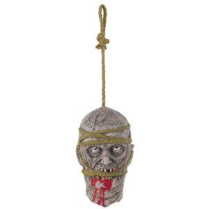 Amscan 11 in. Halloween Zombie Hanging Head Prop
