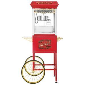 Great Northern Pasadena 8 oz. Antique Red Popcorn Machine with Cart