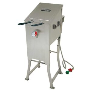 Bayou Classic 4 gal. Bayou Fryer with 2 Stainless Steel Baskets