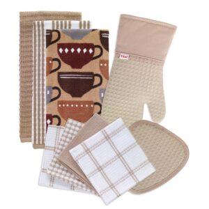 RITZ T-Fal Sand Cotton Kitchen Textile Set (Set of 9)