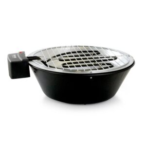 Better Chef Indoor Outdoor 14 in. Black Tabletop Electric Barbecue Grill