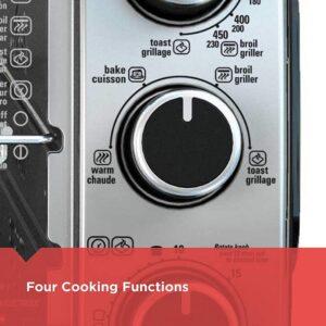 BLACK+DECKER 6-Slice Toaster Oven in Black