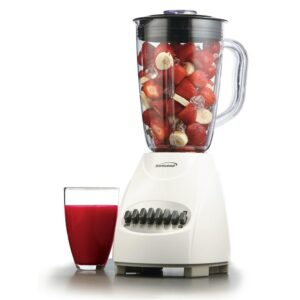 Brentwood Appliances 50 oz. 12-Speed White Electric Blender with Plastic Jar