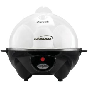 Brentwood 7-Egg Black Electric Egg Cooker with Auto Shutoff