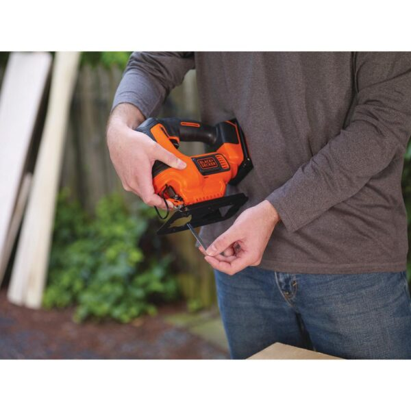 BLACK+DECKER 20-Volt MAX Lithium-Ion Cordless Jigsaw with 1.5 Ahr Battery and Charger