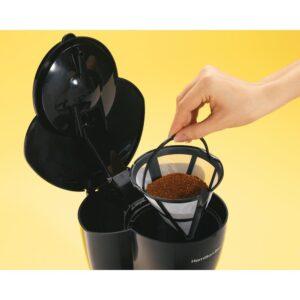 Hamilton Beach 12-Cup Black Drip Coffee Maker with Glass Carafe