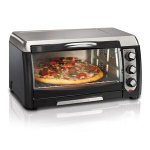 Hamilton Beach 6 Slice Easy Clean Black Toaster Oven with Convection
