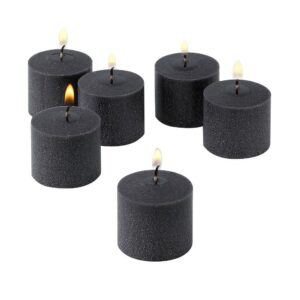 Light In The Dark 10 Hour Black Unscented Votive Candle (Set of 72)