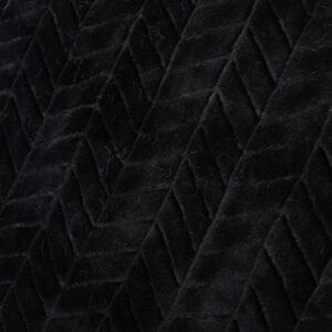 Noble House Toscana Black Faux Fur Throw Blanket
