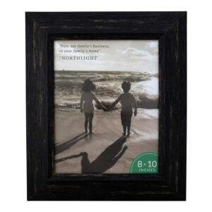 Northlight 8 in. x 10 in. Distressed Black Picture Frame (for All Occasions, New Year's, etc.)