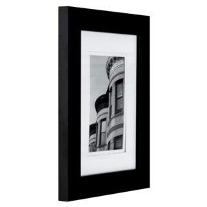 Pinnacle 4 in. x 4 in. Black Picture Frame