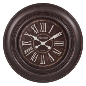 Pinnacle 30 in. Glenmont Oil Rubbed Bronze Wide Framed Roman Numeral Wall Clock