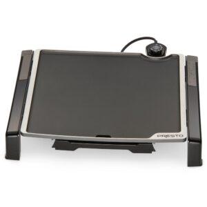 Presto Tilt and Fold 210 sq. in. Black Electric Griddle with Temperature Sensor