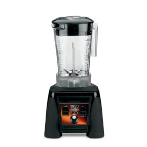 Waring Commercial Xtreme 48 oz. 10-Speed Clear Blender Black with 3.5 HP Blender and Variable Speed Dial Controls