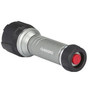 Husky 4AAA 350-Lumen LED Dual Beam Unbreakable Aluminum Flashlight