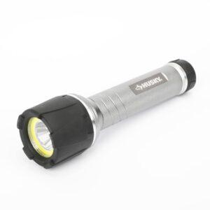 Husky 500 Lumens LED Aluminum Dual Beam Unbreakable Flashlight