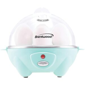 Brentwood 7-Egg Blue Electric Egg Cooker with Auto Shutoff