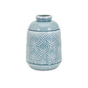 IMAX Felix Ceramic Blue Medium Vase