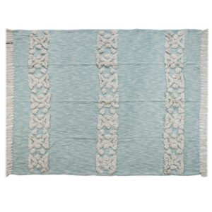 LR Resources Soft Aztec 50 in. x 60 in. Sky Blue Decorative Throw Blanket