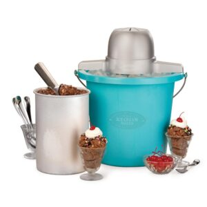 Nostalgia 4 Qt. Electric Ice Cream Maker with Easy-Carry Handle