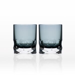Rolf Glass Vienna 7 oz. Smoke Blue Old-Fashioned (Set of 2)