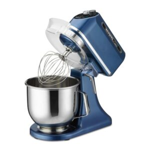 Waring Commercial 11-Speed, Blue, Luna 7 - 7  Qt. Planetary Mixer, includes Dough Hook, Mixing Paddle and Whisk