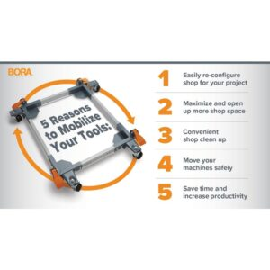 BORA Steel All Swivel Mobile Base