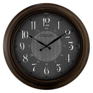 Bulova 24 in. H x 24 in. W Indoor Outdoor Wall Clock with Metal Case