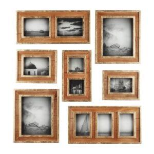 Home Decorators Collection Home Decorators Collection Natural Wood and Gold Gallery Wall Picture Frames (Set of 7)