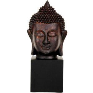 Oriental Furniture Oriental Furniture 10 in. Thai Buddha Head Decorative Statue