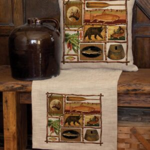 Heritage Lace Lodge Hollow Nature Scene 12 in x 20 in Throw Pillow Cover