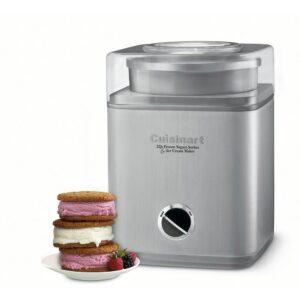 Cuisinart Pure Indulgence 2 qt. Brushed Chrome Frozen Yogurt, Sorbet and Ice Cream Maker