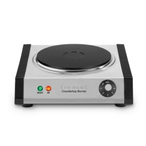 Cuisinart Single Burner 7.5 in. Brushed Stainless Cast Iron Hot Plate with Temperature Control
