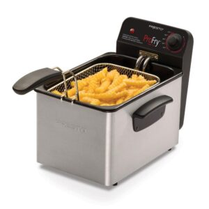 Presto Professional 3.2 Qt. Stainless Steel Deep Fryer with Fry Basket