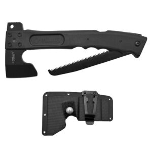 Camillus Camtrax 12 in. Glass Filled Nylon Handle 3-in-1 Hatchet, Folding Saw and Hammer with Molded Sheath
