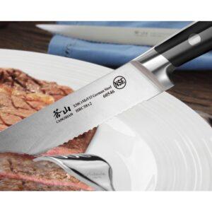 Cangshan S Series 5 in. Blade German Steel Forged Steak Knife Set (4-Piece)