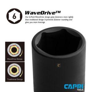 Capri Tools 1/2 in. Drive 32 mm 6-Point Metric Deep Impact Socket