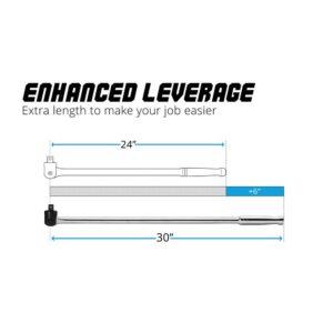 Capri Tools 1/2 in. Drive 30 in. Extended Leverage Breaker Bar