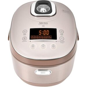AROMA 5 Qt. Champagne Electric Multi-Cooker with Ceramic Pot