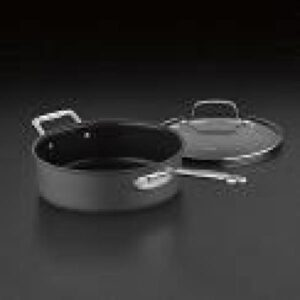 Cuisinart Chef's Classic 3.5 qt. Hard-Anodized Aluminum Nonstick Saute Pan in Black with Glass Lid