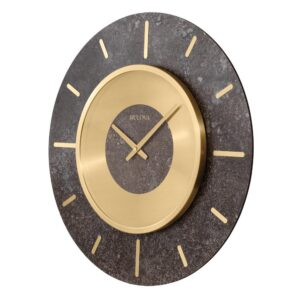 Bulova Oversized 23 in. Gallery Wall Clock with Brushed Brass Bezel
