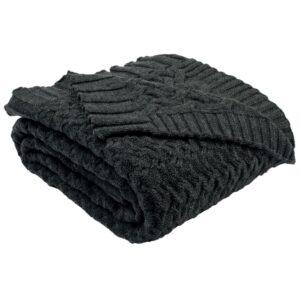 Safavieh Affinity Dark Grey Throw Blanket