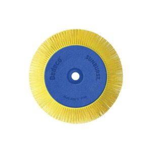 Dedeco Sunburst 8 in. x 1 in. 80-Grit TS Radial Discs Adjustable Arbor Coarse Thermoplastic Cleaning Tool