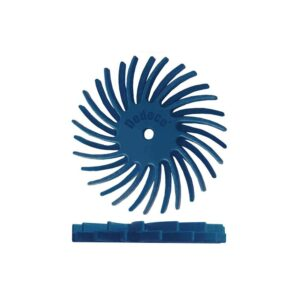 Dedeco Sunburst 7/8 in. Dual Radial Discs - 1/16 in. Fine 400-Grit Arbor Rotary Cleaning and Polishing Tool (12-Pack)