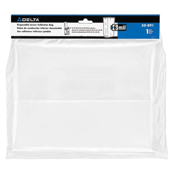 Delta 6 Mil Lower Collection Replacement Bag for 50-786 and 50-760 Dust Collector Accessory
