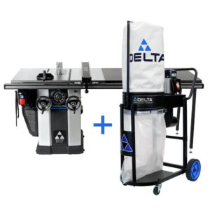 Delta 5 HP Motor 10 in. Unisaw with 52 in. Biesemeyer Fence System and a FREE 1.0 HP Dust Collection System